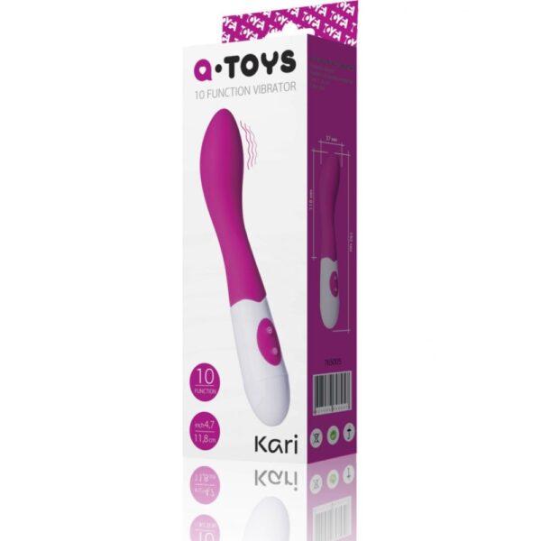 A-Toys Kari vibrator din silicon ambalaj